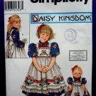 Simplicity Pattern # 9424 UNCUT Girls and Doll Dress Size 3 4 5 6 Daisy Kingdom