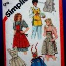 Simplicity Pattern # 5725 UNCUT Vintage Apron ONE Size