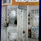 Simplicity Pattern # 9153 UNCUT HOME Craft Bath Bathroom Accessories Window Shower Curtain