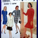 Simplicity Pattern # 7995 UNCUT Misses Dress Pleated Skirt Size 12 14 16