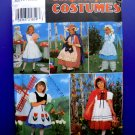 Simplicity Pattern # 8234 UNCUT Girls Costume Alice Red Riding Hood Betsy Ross Size 3 4 5 6
