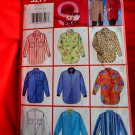Butterick Pattern # 5277 UNCUT Misses Shirt Variations Size 14 16 18