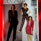 McCalls Pattern # 5669 UNCUT Misses Jacket Top Skirt Pants Size 8 Vintage 1991