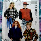 McCalls Pattern # 6162 UNCUT Misses Unlined Jacket (Baseball) Cap Size Large
