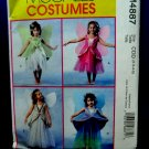 McCalls Pattern # 4887 Girl's Fairy Costume Dress Wings Size 2 3 4 5