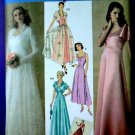 Simplicity Pattern # 4270 UNCUT Misses Gown Wedding Dress Retro 1930's Size 6 8 10 12 14 16
