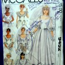 McCalls Pattern # 9452 UNCUT Misses Wedding Dress Size 6 8 10 Vintage 1985