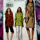 Vogue Pattern # 8208 UNCUT Misses Safari Wardrobe Jacket Belt Skirt Pants Shorts Size 14 16 18