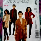 McCalls Pattern # 6408 UNCUT Misses Jacket/Jackets STRETCH KNITS ONLY Size Large XL XXL