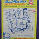 Embroidery Transfer Pattern ~ Here Comes the Indians ~ Days of the Week #3355 Aunt Martha's