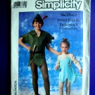 Simplicity Pattern # 7784 UNCUT Peter Pan Tinkerbell Size 6 8