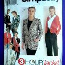Simplicity Pattern # 8622 UNCUT Misses Jacket Length Variations Optional Lining Size 18 20 22