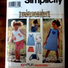 Simplicity Pattern # 5617 UNCUT Girls Top Dress Pants Shorts Bag Size 2 3 4