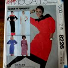 McCalls Pattern # 8226 UNCUT Misses Pullover Dress & Sash Size 8 10 12