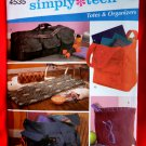 Simplicity Pattern # 4535 UNCUT Totes Organizer Bags Simply Teen
