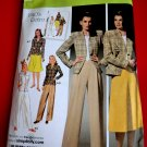 Simplicity Pattern # 4044 UNCUT Misses Jacket Pants Skirt Retro 1940's Size 20 22 24 26 28