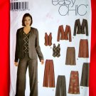 Simplicity Pattern # 5792 UNCUT Misses Wardrobe Jacket Pants Skirt Vest Size 12 14 16 18 20