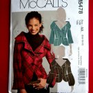McCalls Pattern # 5478 UNCUT Misses Lined Poitrait Collar Jacket Sleeve Variations Size 6 8 10 12