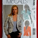 McCalls Pattern # 5395 UNCUT Misses Unlined Jacket Sleeve Pocket Variations Size 4 6 8 10 12