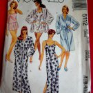 McCalls Pattern # 5112 UNCUT Misses Robe Nightgown Size 18 20