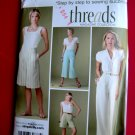 Simplicity Pattern # 3756 UNCUT Misses Pants Shorts Length Variations Size 20 22 24 26 28