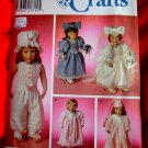 Simplicity Pattern # 8209 UNCUT Doll Wardrobe Clothes 18 Inches Tall