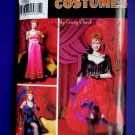 Simplicity Pattern # 0662 UNCUT Misses Costume Can-Can Dancer Moulin Rouge Dancer Size 14 16 18 20
