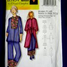 Butterick Pattern # 5434 UNCUT Misses Top Robe Belt Pants Size XS Small Large XL