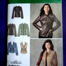 Simplicity Pattern # 2341 Misses Jacket Vest Size 6 8 10 12 14