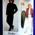 Vogue Pattern # 2853 UNCUT Misses Jacket Top Pants Size 10 ONLY a Paris Original by Designer Montana