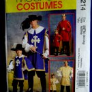 McCalls Pattern # 5214 UNCUT Men's Costume for a King or Musketeer Size Small Medium Large XL