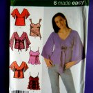 Simplicity Pattern # 4958 UNCUT Misses Top / Tops Variations Size 12 14 16 18