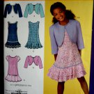 Simplicity Pattern # 2470 UNCUT Girls Dress Variations and Bolero Size 8 10 12 14 16