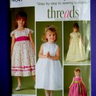 Simplicity Pattern # 4647 UNCUT Girls Special Occasion Dress Size 3 4 5 6