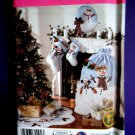 SimplicityPattern # 3967 UNCUT Christmas Decorating Tree Skirt Stockings Gift Bag