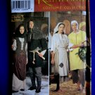 Simplicity Pattern # 8587 UNCUT Misses Mens Renaissance Costume Peasant XS Small Medium Large XL