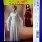 McCalls Pattern # P 362 / 4889 UNCUT Misses Costume Renaissance Dress Gown Size 16 18 20 22