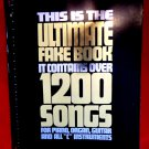 Ultimate Fake Book 1200+ songs Piano/Guitar/Organ C instruments