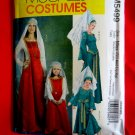 McCalls Pattern # 5499 UNCUT Misses Costume Gown Size Small Medium Large XL