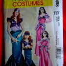 McCalls Pattern # 5498 UNCUT Girls Costume Mermaid Size 3 4 5 6 7 8