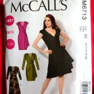 McCalls Pattern # 6713 UNCUT Misses KNIT Dress Evening Length KNITS ONLY Size 8 10 12 14 16