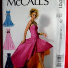 McCalls Pattern # 6701 UNCUT Misses Gown Evening Length Dress Size 14 16 18 20 22