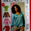 McCalls Pattern # 6470 UNCUT Misses Blouse Tunic Size Large XL XXL