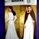Butterick Pattern # 4377 UNCUT Misses Costume Dress Gown Cape Medieval Renaissance Size 14 16 18 20