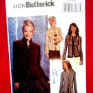 Butterick Pattern # 4028 UNCUT Misses Jacket Size 12 14 16