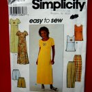 Simplicity Pattern # 8566 UNCUT Misses Dress Top Pants Shorts Size 12 14 16