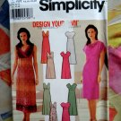 Simplicity Pattern # 7156 UNCUT Misses Dress Neckline Variations Size 14 16 18 20