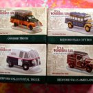 LOT It's a Wonderful Life Enesco Village NIB Moving Truck Mail Bus