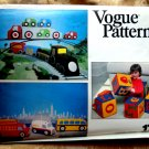Vogue Pattern # 1741 UNCUT Toys and Blocks (Stretch Knits) Fire Engine Mail Truck School Bus Train