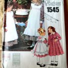 Vogue Pattern # 1545 UNCUT Girls Dress Pinafore Size 6